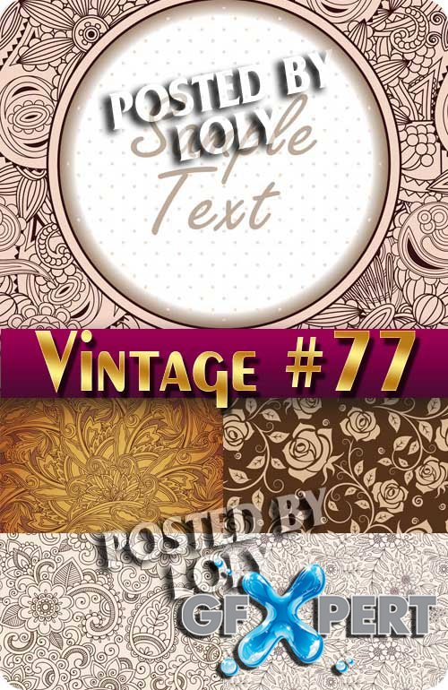 Vintage backgrounds #77 - Stock Vector