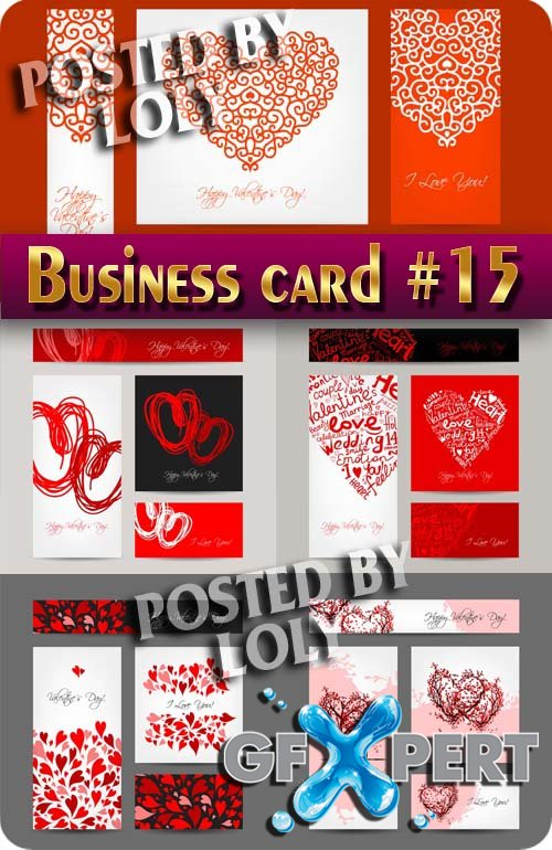 Business Cards #15 - Stock Vector