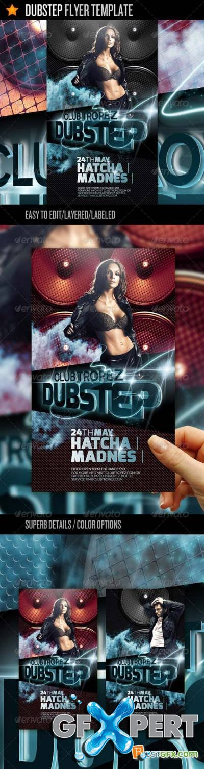 Graphicriver Dubstep - Flyer Template
