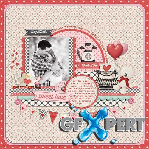 Romantically scrap set - Words of Love