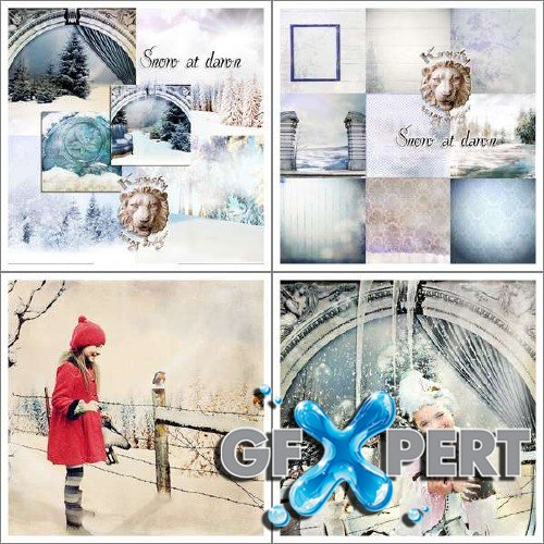 Wonderful scrap kit - Snow at Dawn
