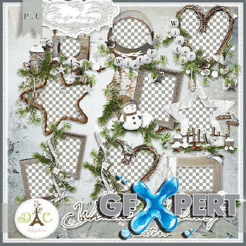 Digital scrap set - Whiteness Wintry