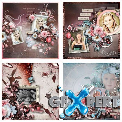 Marvellous scrap kit - Reflections