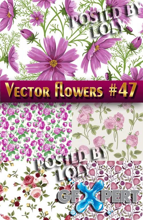 Vector Flowers #47 - Stock Vector