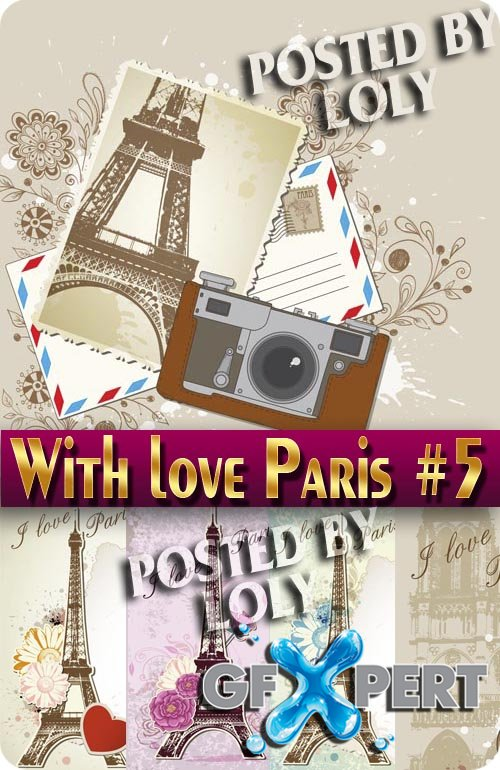 With love from Paris #5 - Stock Vector