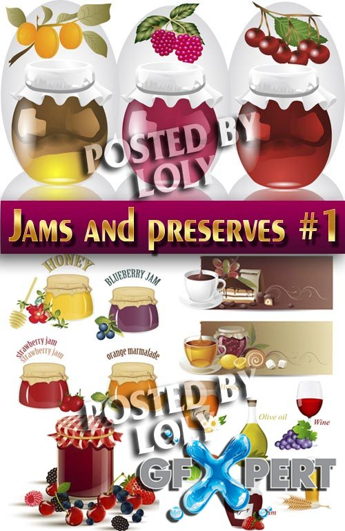 Jams and preserves #1 - Stock Vector
