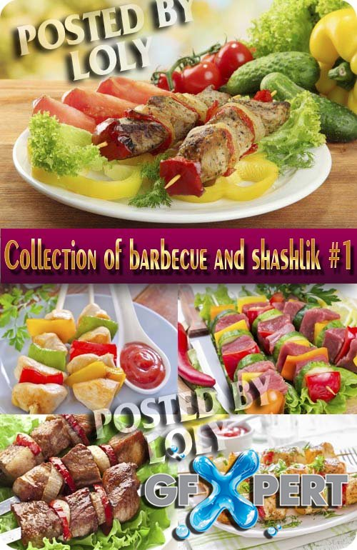 Food. Mega Collection. Barbecue and shashlik #1 - Stock Photo