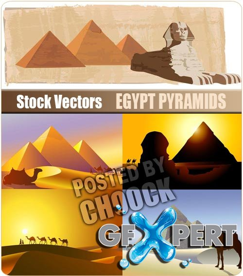 Egypt pyramids - Stock Vector