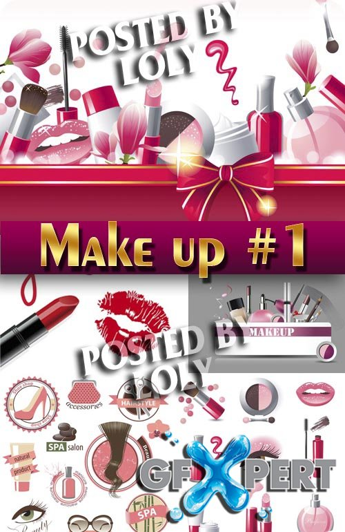 Makeup and Cosmetics #1 - Stock Vector