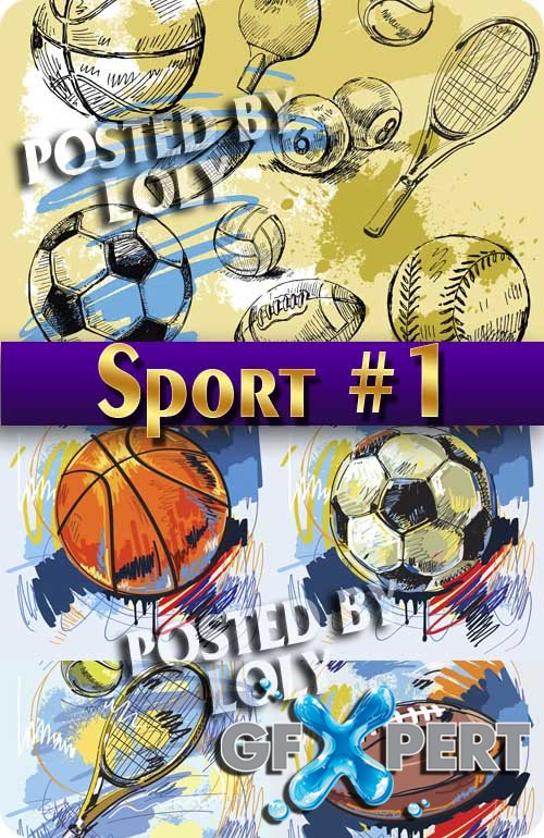 Sports Backgrounds # 1 - Stock Vector