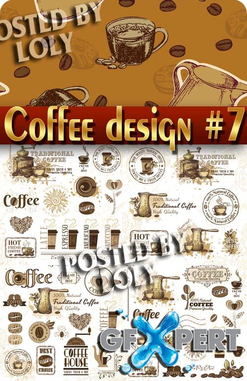 Coffee Designs #7 - Stock Vector