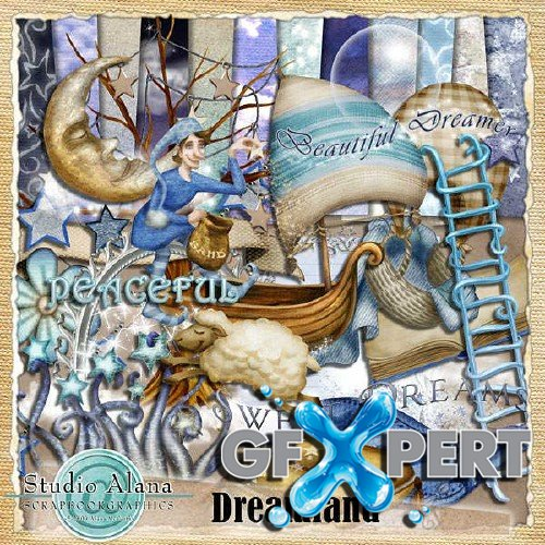 Digital scrapbooking kit - Dreamland