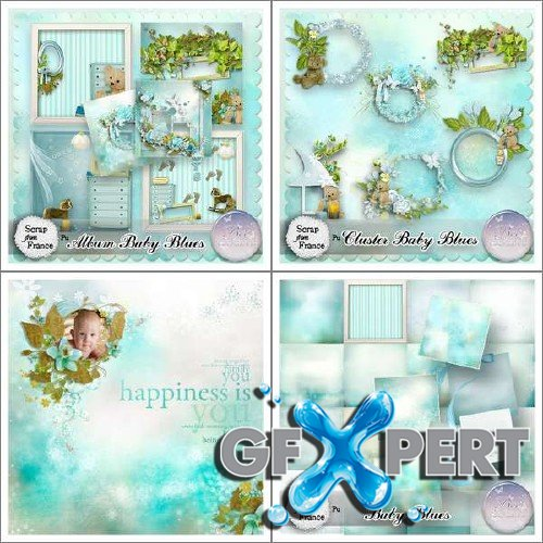 Perfect scrap kit - Baby Blues