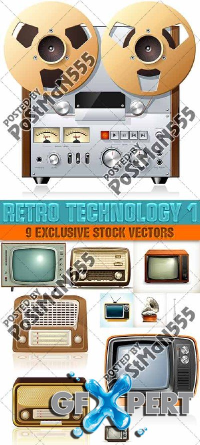 Old technology - Vector
