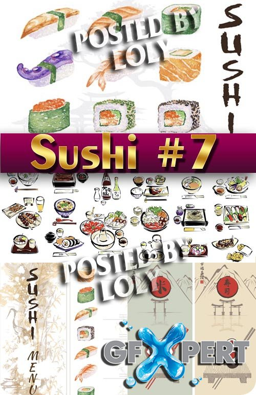 Sushi Menu #7 - Stock Vector