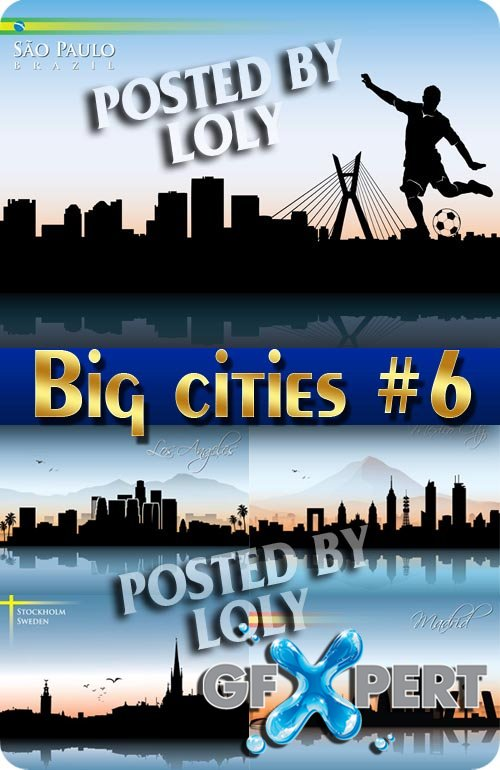 Big cities #6 - Stock Vector