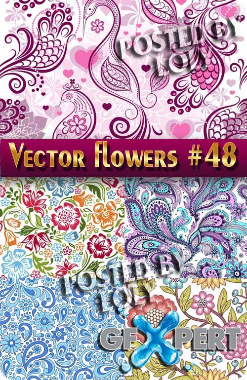 Vector Flowers #48 - Stock Vector