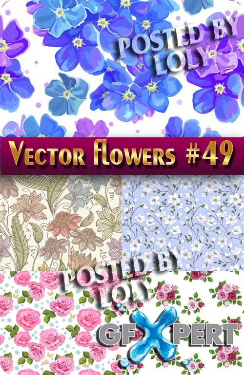 Vector Flowers #49 - Stock Vector