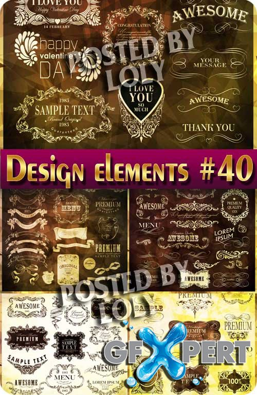 Design elements #40 - Stock Vector