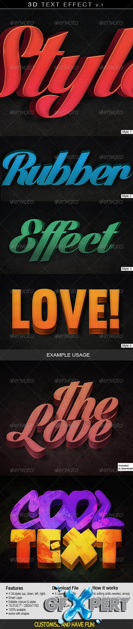 GraphicRiver 3D Text Effect v.1 4921117