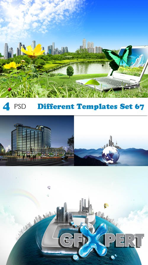 PSD - Different Templates Set 67