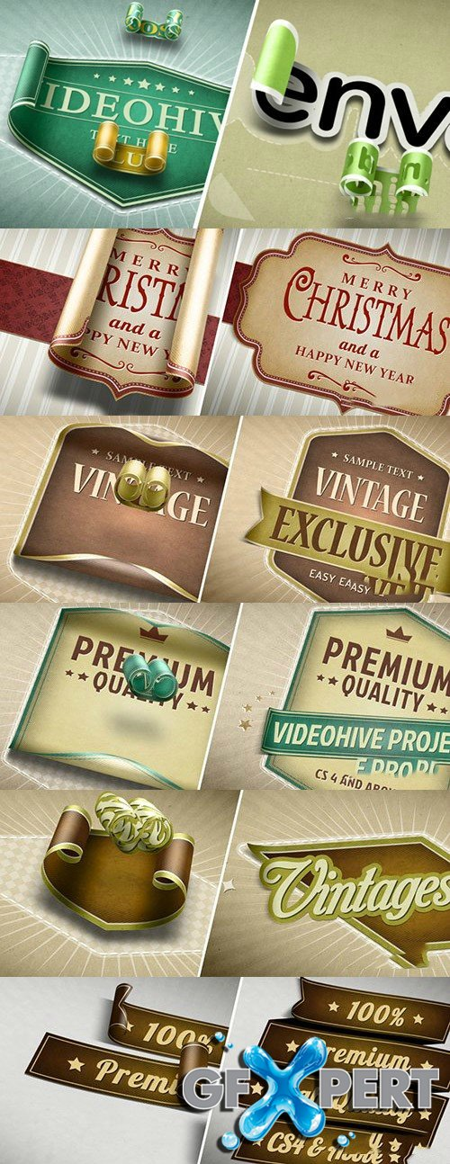 Videohive Unwrapping - 3D Stickers Labels & Titles 6475406
