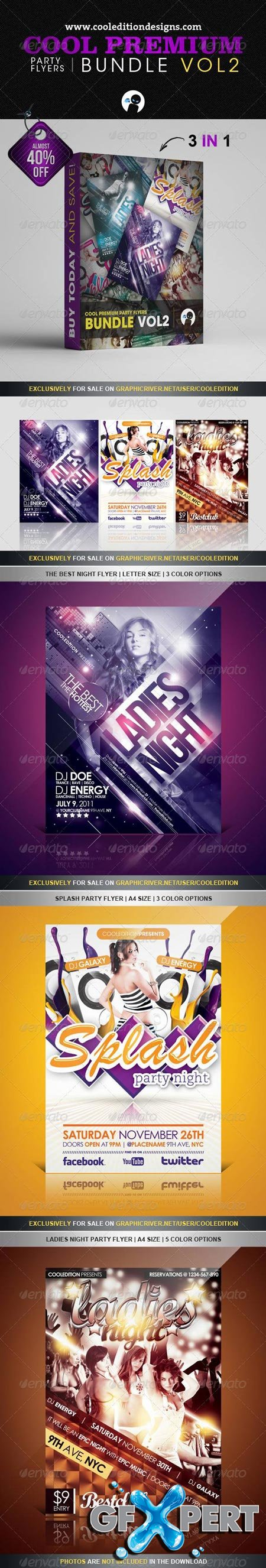 GraphicRiver Cool Premium Party Flyers Bundle VOL2 2498639