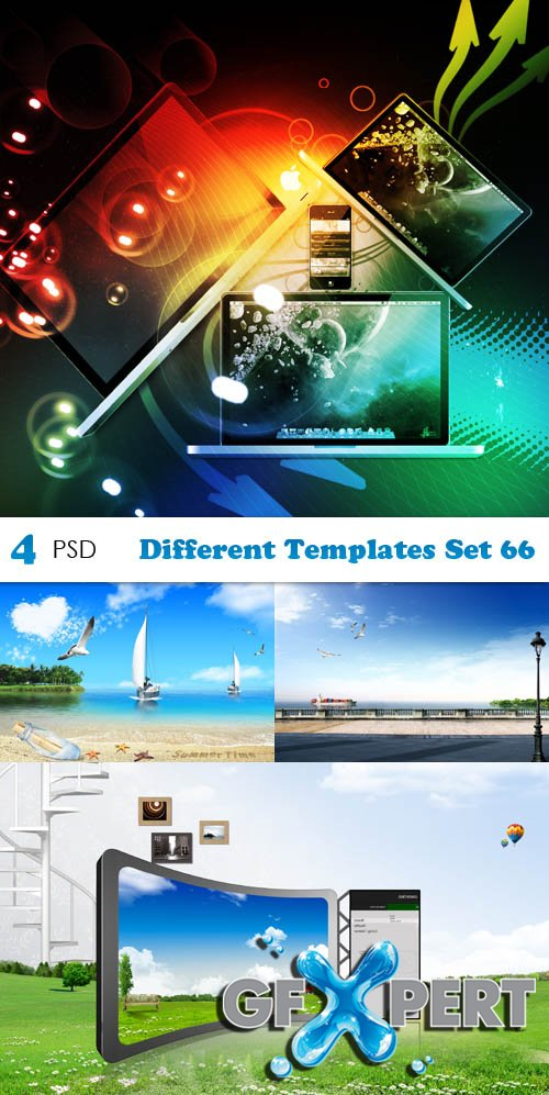 PSD - Different Templates Set 66