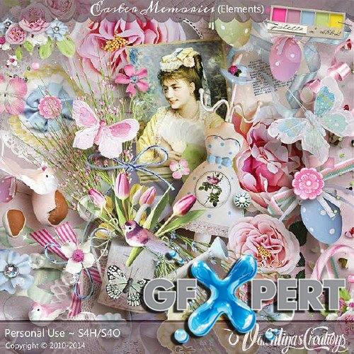 Wonderful scrap kit - Easter Memories