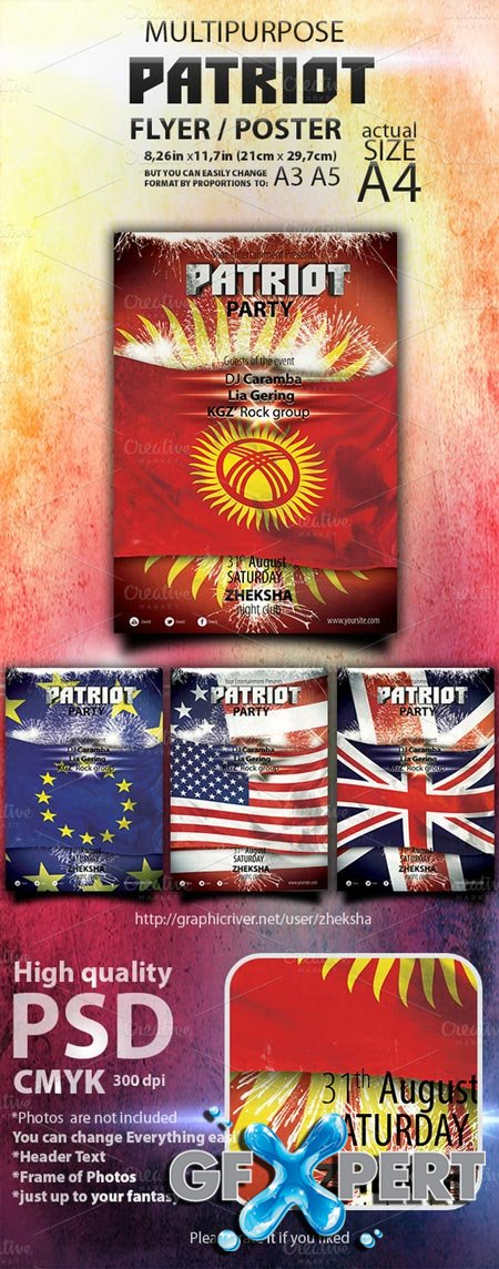 Creativemarket Patriot Themed Template 6253