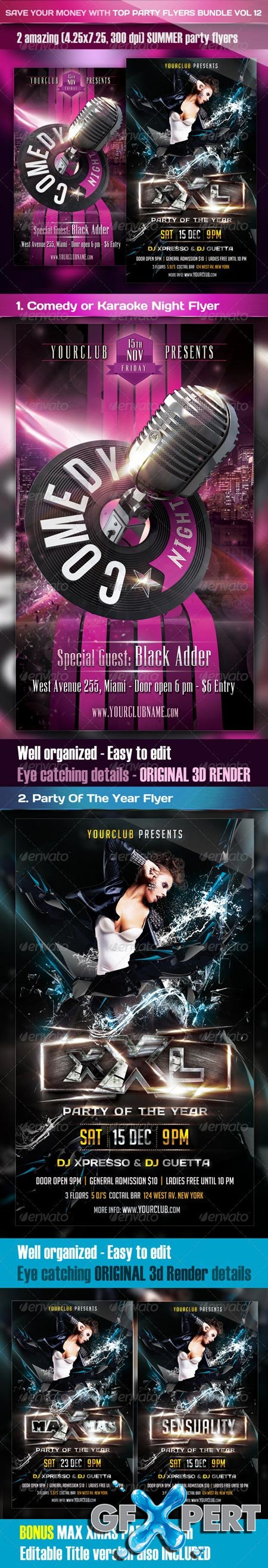 GraphicRiver Top Party Flyer Bundle Vol12 3632572