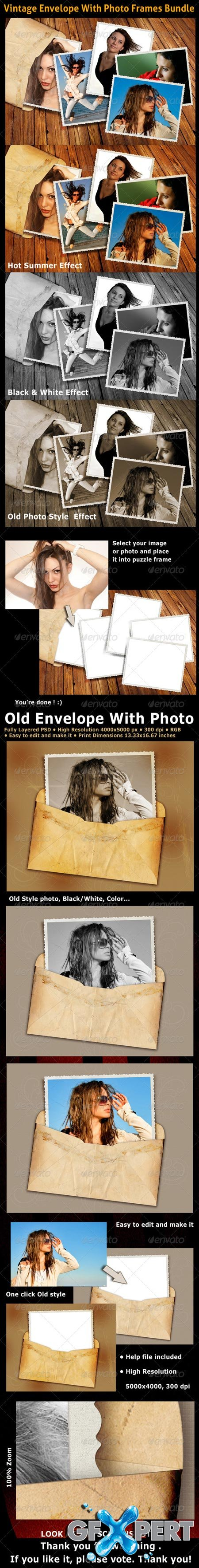 GraphicRiver Vintage Envelope Photo Bundle 3399070