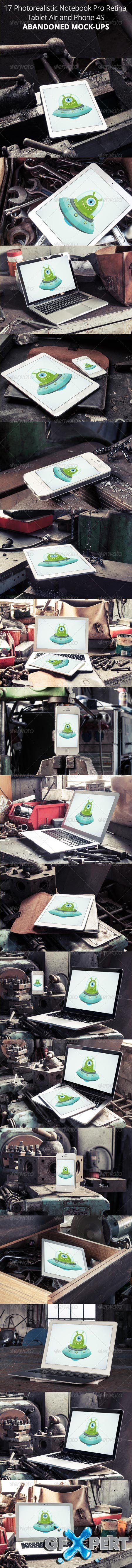 GraphicRiver 17 Photorealistic Devices Mock-Ups Abandoned Place 7365563