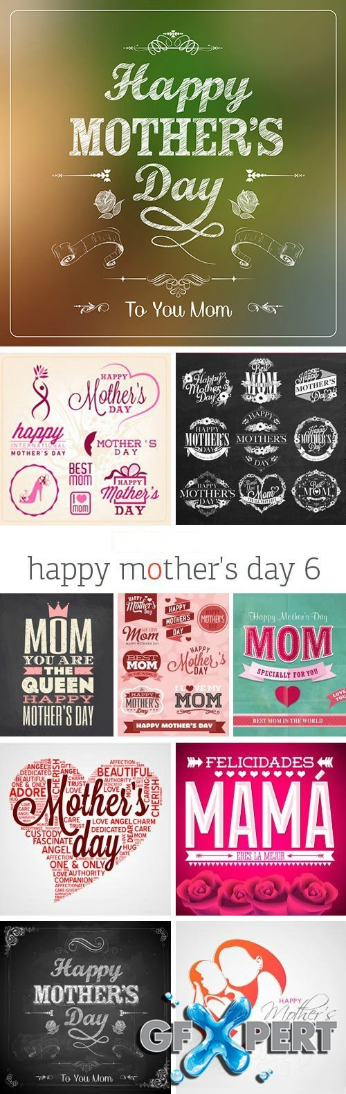 Happy Mother's Day 6, 25xEPS