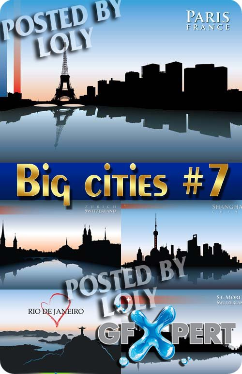 Big cities #7 - Stock Vector