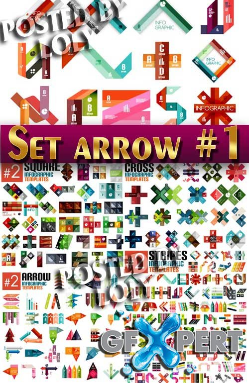Set of arrows and pointers #1 - Stock Vector