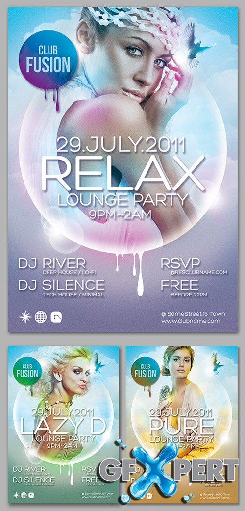 3 Relax Flyer Templates