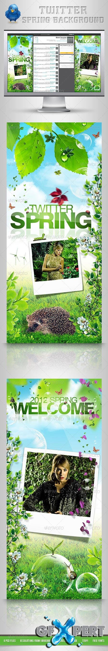GraphicRiver Twitter Background Spring 1934819