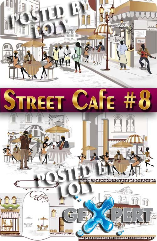 Street Cafe #8 - Stock Vector