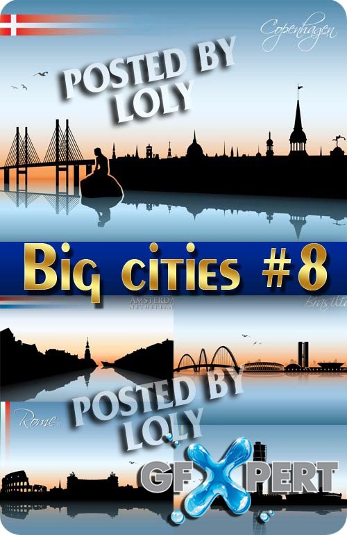 Big cities #8 - Stock Vector
