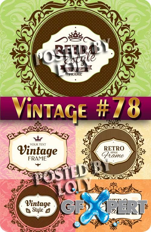 Vintage backgrounds #78 - Stock Vector