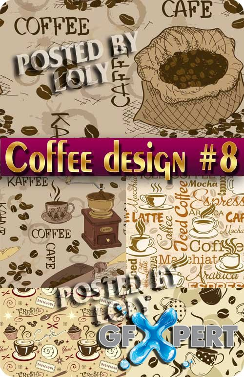 Coffee Designs #8 - Stock Vector
