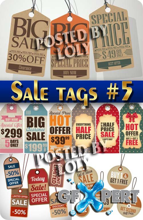 Sale tag #5 - Stock Vector
