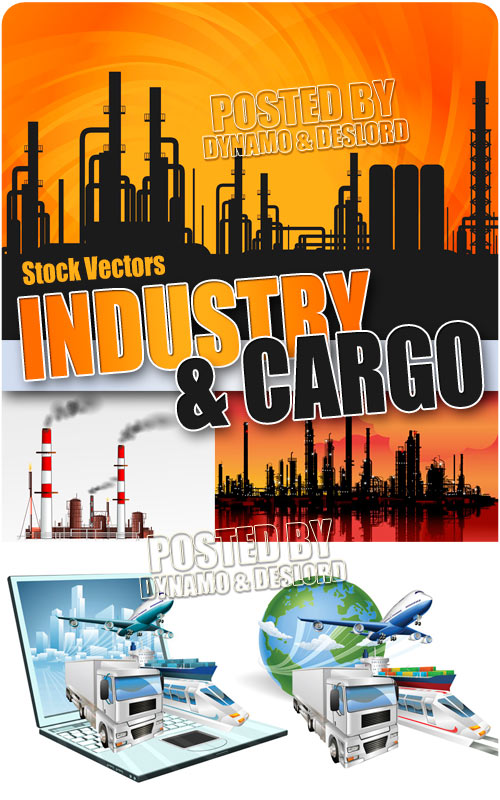 Industry and cargo - Stock Vectors