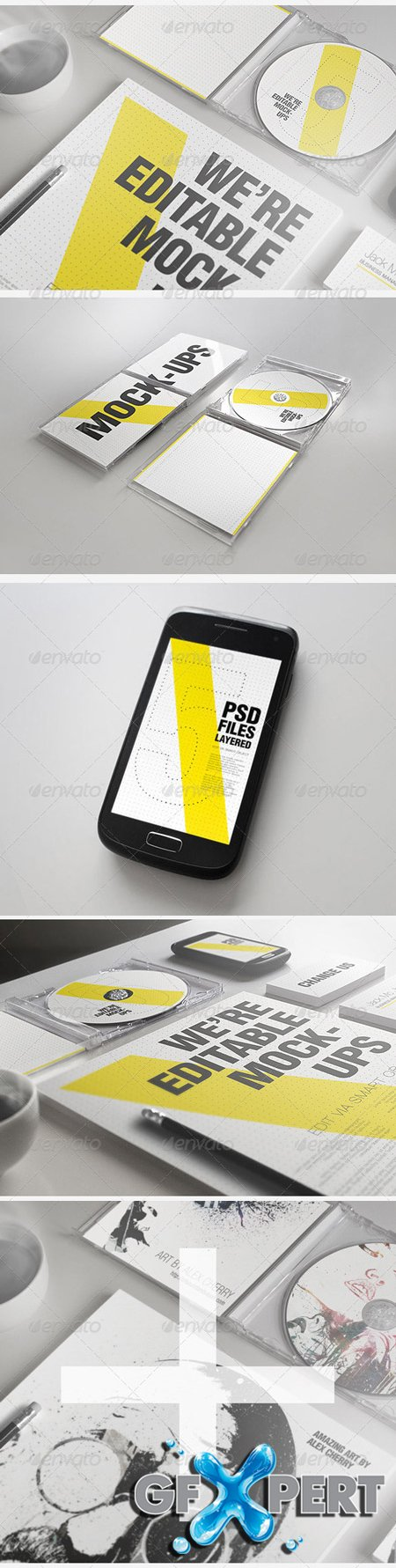 GraphicRiver Realistic Stationery Mockups Set 2- Corporate ID