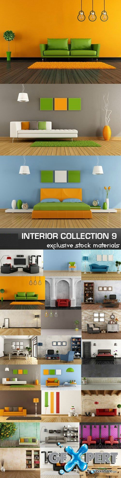 Collection of Interiors Vol.9, 25xJPG