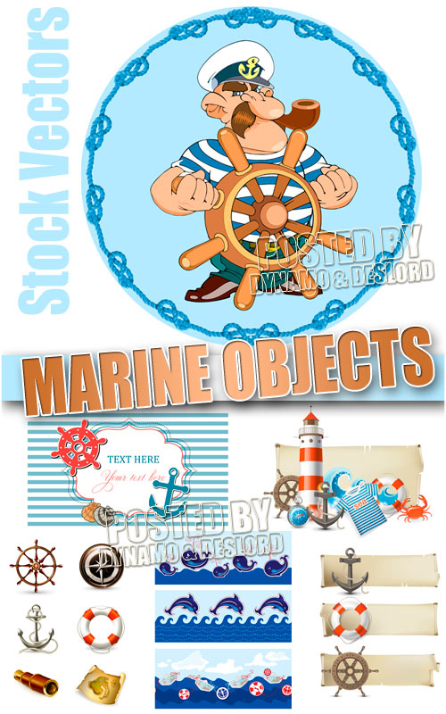 Marine objects 2 - Stock Vectors