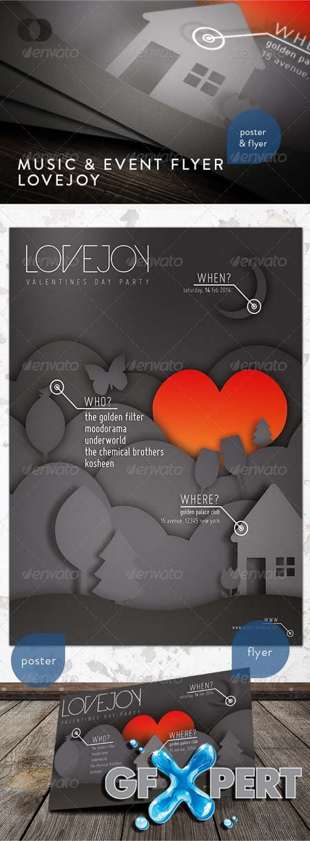 GraphicRiver Music & Event Flyer - Lovejoy 1237622.rar
