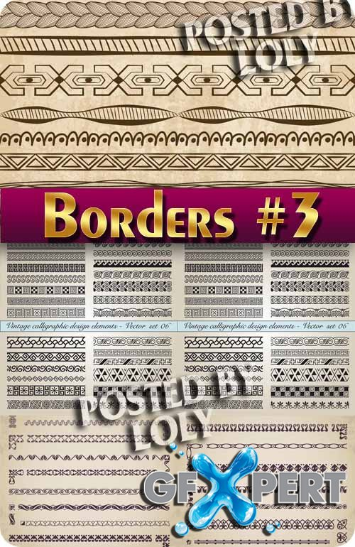 Vintage elements and borders #3 - Stock Vector