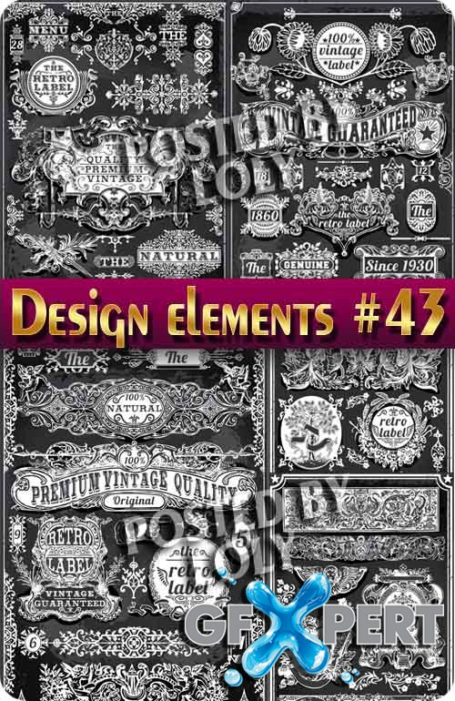 Design elements #43 - Stock Vector